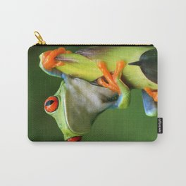 Curious Red-Eyed Tree Frog Carry-All Pouch