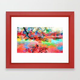 At peace at the end of the day Framed Art Print