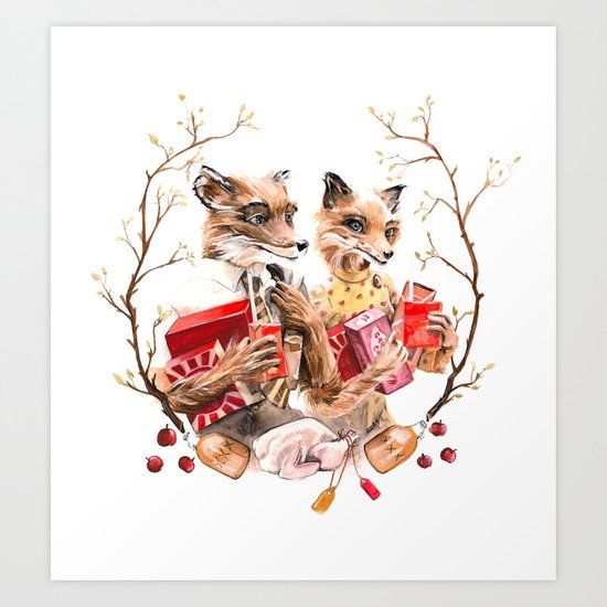 The Fantastic Foxes Art Print