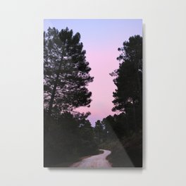 Pink sunrise. Into the woods. Metal Print