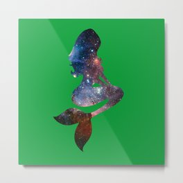 Galaxy Mermaid 3 (Spruce) Metal Print