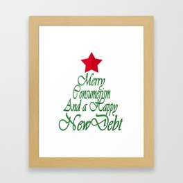 Merry Consumerism Framed Art Print