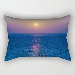 Blue Sunrise Rectangular Pillow