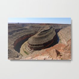 A Meander Of The Goosenecks Metal Print