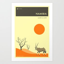 NAMIBIA TRAVEL POSTER Art Print