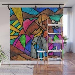 """In memory of Maya Angelou """"Caged Bird Sings""""  Wall Mural"""