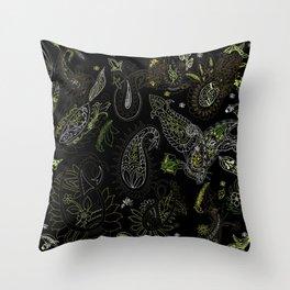 Cactus Garden Paisley 2 Throw Pillow