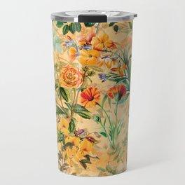 Vintage & Shabby Chic -  Sunny Gold Botanical Flowers Summer Day Travel Mug