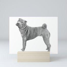 Shar pei Mini Art Print