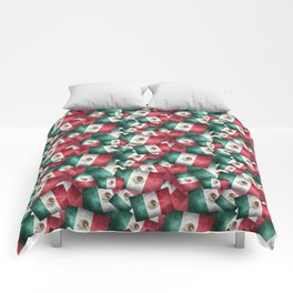 Grunge-Style Mexican Flag Comforters