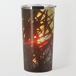 Sunset Peeking through the Dunes Travel Mug