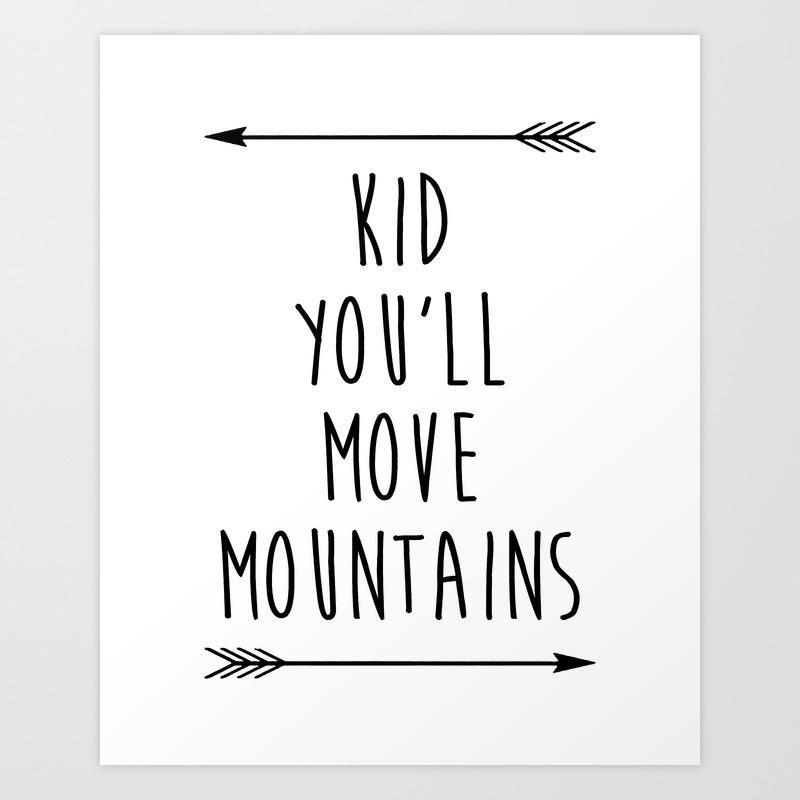Inspirational Quote Black And White Nursery Art Print Children S Bedroom Printable