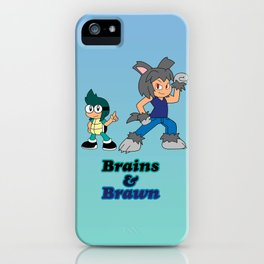 Shiro and Mike-Brains and Brawn iPhone Case