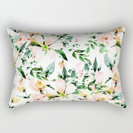 Flowered Rectangular Pillow