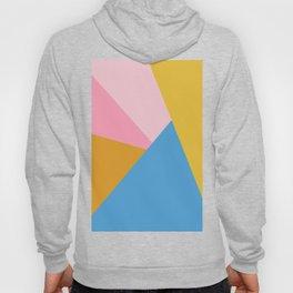 Cute Colorful Diagonal Color Blocking Hoody