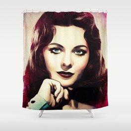 Jeanne Crain, Vintage Actress Shower Curtain