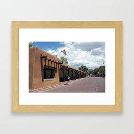 Santa Fe Old Town Square, No. 5 of 7 Framed Art Print