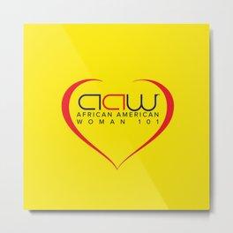 AAW101 Yellow Metal Print