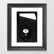 All the Answers Framed Art Print