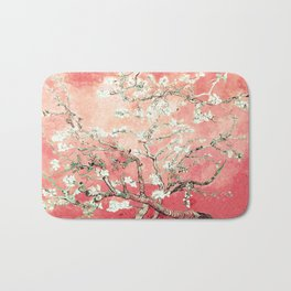 Van Gogh Almond Blossoms : Peach Bath Mat