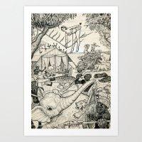 safari Art Prints featuring Safari by David Jablow