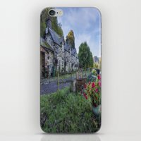 cafe iPhone & iPod Skins featuring Lakeside Cafe by Ian Mitchell