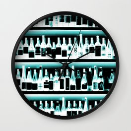 Wine Bottles - version 2 #decor #buyart #society6 Wall Clock