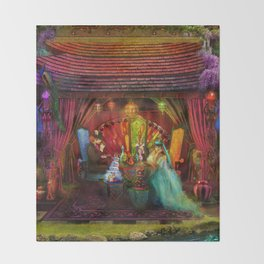 A Mad Tea Party Throw Blanket