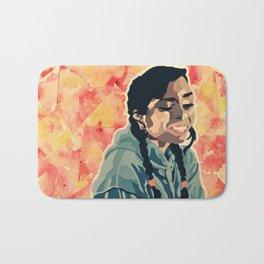 Cut Paper Self Portrait Bath Mat