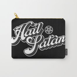 Hail Satan - Grayscale pop vintage letters Carry-All Pouch