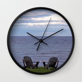 Seating by the Sea Wall Clock