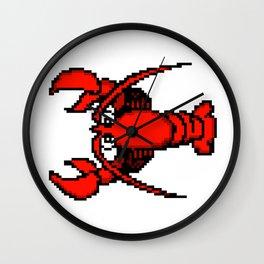 8-Bit Retro Pixel Art Lobster Wall Clock