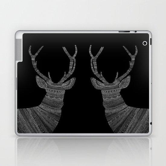 Stag / Deer (On Black) Laptop & iPad Skin