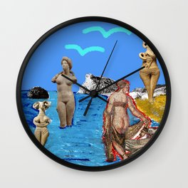 Aphrodites throughout times Wall Clock