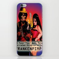 movie poster iPhone & iPod Skins featuring Frankenpimp (2009) - Movie Poster by Tex Watt