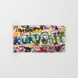 Urban Graffiti Paper Street Art Hand & Bath Towel
