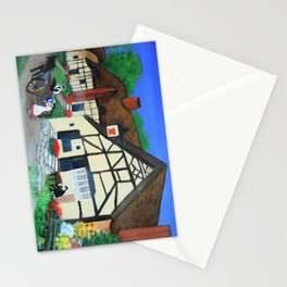 Old Village  Stationery Cards