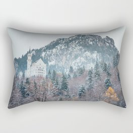 Neuschwanstein Castle with Bavarian Alps in background Rectangular Pillow