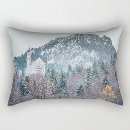 Neuschwanstein Castle with Bavarian Alps in background Rectangular Pillow