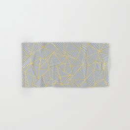 Ab Outline Gold and Grey Hand & Bath Towel