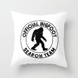 Official Bigfoot Search Team Throw Pillow