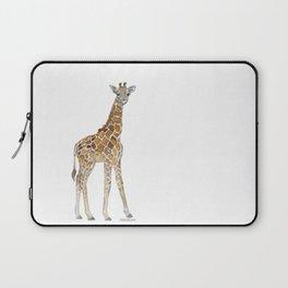 Baby Giraffe Watercolor Painting Laptop Sleeve