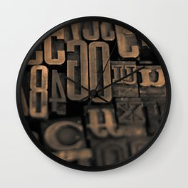 Movable Type 01 Wall Clock