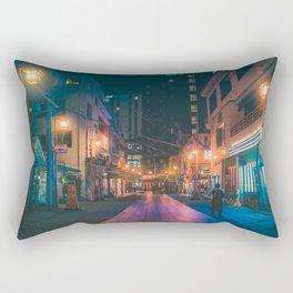 Down the Path - Tokyo Japan Night Photography Rectangular Pillow