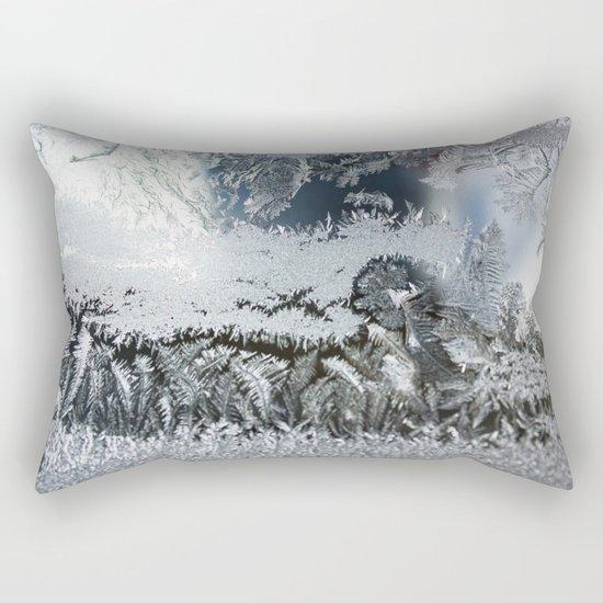 Frosty window Rectangular Pillow
