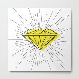Shiny diamond Metal Print
