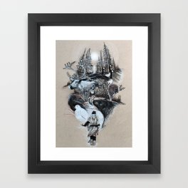 The White Wizard's Journey Home Framed Art Print