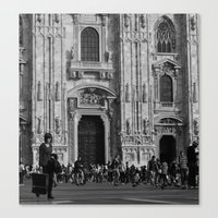 milan Canvas Prints featuring Milan by Emma Cingano