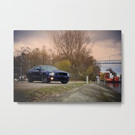 2012 Shelby GT-500 at the port Metal Print
