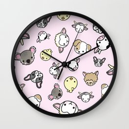 Pink Critter Collection Wall Clock